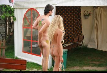Innocent young amateur teen nudist
