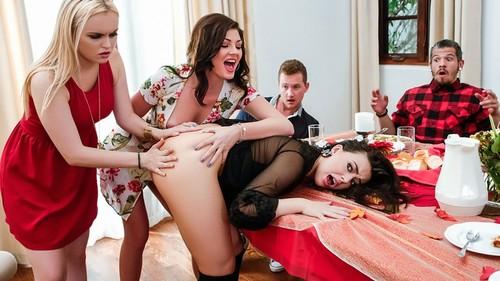 Thanksgiving Dinner Sluts - Whitney Wright, River Fox, Jessica Rex (SneakySex.com-)