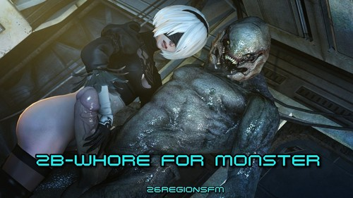 26RegionSFM - 2B-Whore For Monster