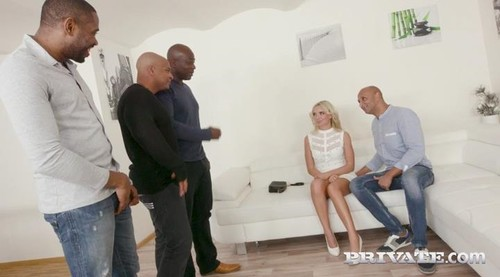 Horny Blonde Takes on Four Black Stallions - VICTORIA PURE (private.com-)