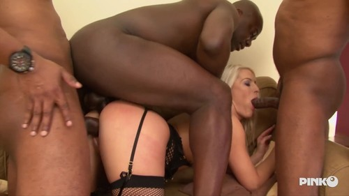 Blanche Bradburry - Blonde And Depraved Girl Gets Fucked By Four Black Studs -  (PinkoClub-2018)