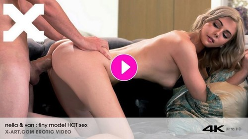 Tiny Blonde Hot Sex Romantic Evening [SD]