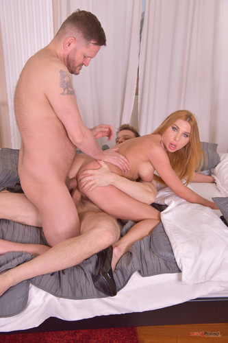 LegalPorno.com - Marilyn Crystal - Two big hard monster cocks pumped up Marilyn Crystal's gaping ass & pussy FS033