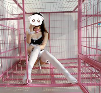 網紅少女-洛美-VIP視圖-牢籠中的白絲女仆-2019020403