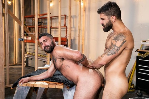 RagingStallion – Raw Construction: Adam Ramzi & Sharok Bareback