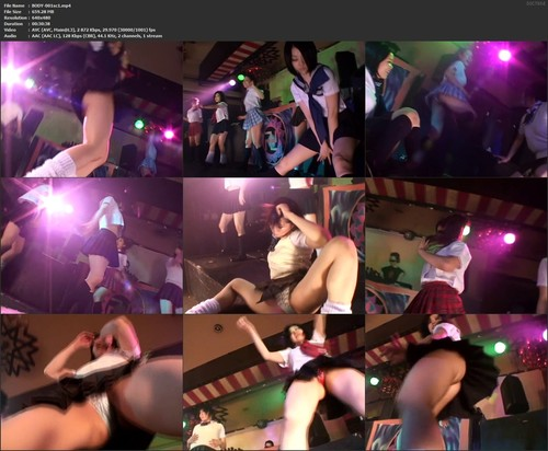 BODY-001 Trans-strip Real Amateur Dancer Psycho sc1