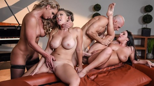 Angela White, Kagney Linn Karter, Phoenix Marie  - Dinner For Cheats  [HD]