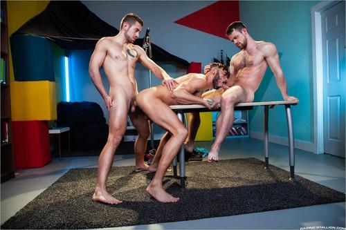 RagingStallion - Masturbation Station (Kurtis Wolfe, Dante Colle & Cris Knight) Bareback