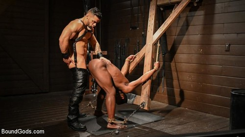 BoundGods - Fresh Muscle (Leather Clad Arad Winwin Punishes Newcomer Parker Payne)