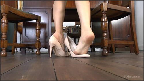 Gorgeous Matron Kay Plays with Her Sexy Stilettos Using Her Pretty Feet  - St Mackenzie's  - iwantclips