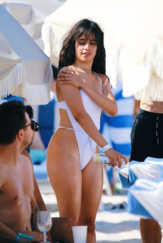 Camila Cabello Hits the Beach in a Bathing Suit that Makes Dreams Come True